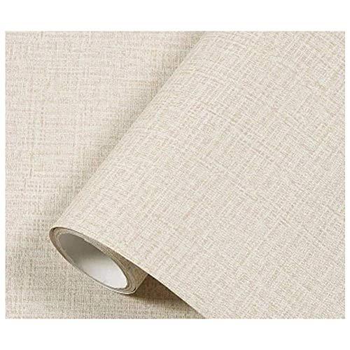 TJLMCORP-Papel tapiz autoadhesivo de tela para lugar de fuego, cocina, protector contra salpicaduras, pegatinas de pared, adhesivo para puerta, revestimientos para encimeras (crema)