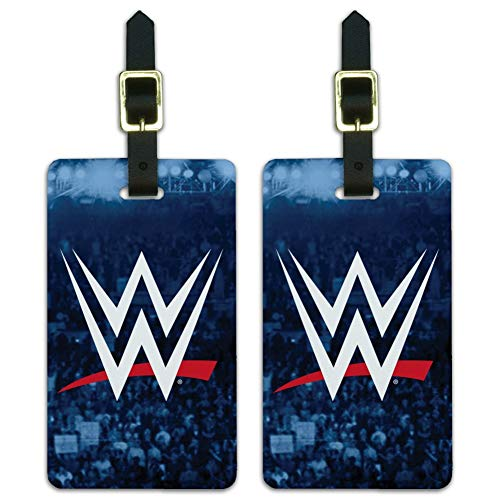 WWE Crowd Logo Luggage ID Tags Suitcase Carry-On Cards - Set of 2