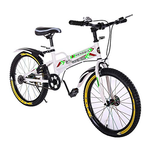 Gorunning Full Dual-Suspension Mountain Bike for Kids, 20 Inch, Steel Frame and 21-Speed Shimano Drivetrain with Kettle and Bag, Quick Connect or Regular Assembly, Kickstand Included