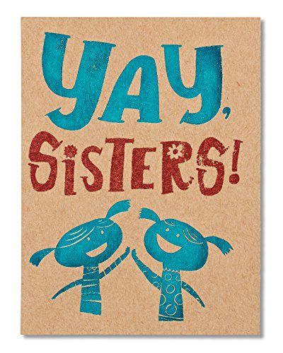 American Greetings Yay Sister Birthday Greeting Card for Sister with Glitter and Foil