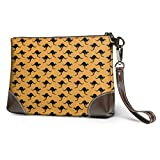 Carteras Women's Leather Wristlet Clutch Wallet Kangaroo Storage Purse with Strap Zipper Pouch