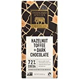 Endangered Species Chocolate Bars, Hazelnut Toffee Natural Rich Dark Chocolate, 72% Cocoa combined with premium tasty hazelnuts, Gluten Free, 3-Ounce Bars (Pack of 12)