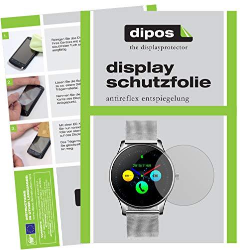 dipos I 6X Schutzfolie matt kompatibel mit DIGGRO K88H Smartwatch Folie Displayschutzfolie