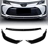 Stay Tuned Performance PU/683/PBK Painted Black Front Bumper Body Kit Lip 3PCS Compaitble with 2019&Up Corolla SE XSE