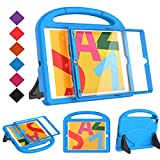 BMOUO Kids Case for New iPad 10.2 2019 - iPad 7th Generation Case with Built-in Screen Protector, Shockproof Light Weight Handle Stand Kids Case for Apple iPad 10.2' 2019 Latest Model - Blue
