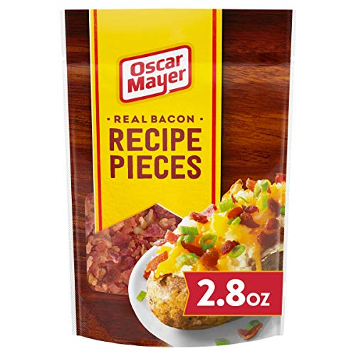 Oscar Mayer Bacon Recipe Pieces (2.8 oz Packages, Pack of 6)