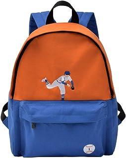 WOCTP Rucksäcke, College-Rucksack, für Studenten, Freizeit, Segeltuch, groß für Mädchen, hohe Schule, Schultertasche, Büchertasche, Baseball, Tagesrucksack, Reisetasche