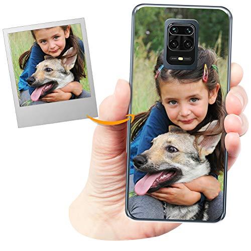 Funda Personalizada para Xiaomi Redmi Note 9 Pro con tu Foto, Imagen o Escritura - Estuche Suave de Gel TPU Transparente - Impresión