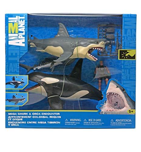 AP Animal Planet Mega Shark & Orca Encounter Playset