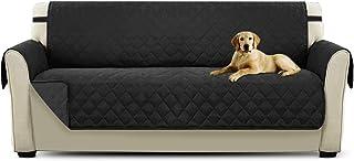 comprar comparacion PETCUTE Cubre sofá Fundas de Sofa 3 plazas Protector de sofá Negro Acolchado Forros para Sofas
