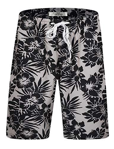 ELETOP Shorts de baño para Hombre Bañador de Secado rápido Shorts de Playa de Surf con cordón Ajustable