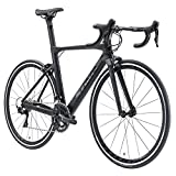 SAVADECK Bicicleta de Carretera Carbono, Warwinds5.0 700C de Carbono con Shimano 105 R7000 22-Velocidad,Neumáticos Continental Ultra Sport II 25C y Doble Freno en V (Gris, 56cm)