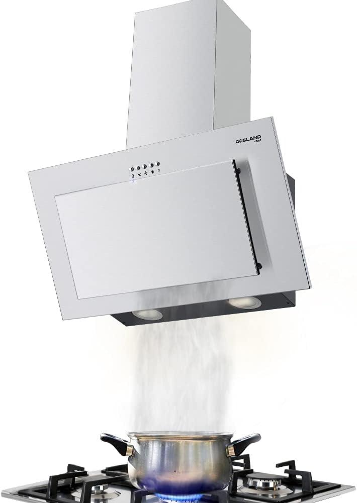 Gasland Campana extractora Chef AR60SP, 350 m³/h, 60 cm, montaje en pared, 3 niveles, con filtro de grasa de aluminio, acero inoxidable
