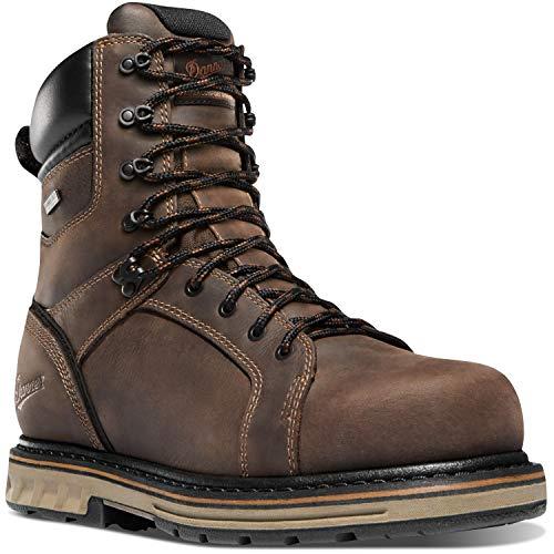 """Danner Men's Steel Yard 8"""" Construction Boot, Brown, 10.5 D US"""