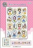 SO-G135 Mini Princesses, SODA Cross Stitch Pattern Leaflet, Authentic Korean Cross Stitch Design, Cross Stitch Pattern Chart, Color Printed on Coated Paper