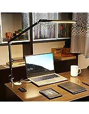 UTDKLPBXAQ LED Desk Lamp, with Folding Clip Eye-care Swing Arm Desk Lamp for Study Work Home Office, Adjustable Color Temperature 2800k-6000k Desk Light, 360-degree Rotating Light Source (8w)