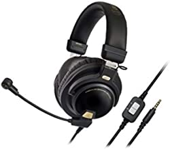 Headset Gamer Audio-Technica Premium Audio-Technica Closed Back Cabo de extensão de 3,5 mm, Preto