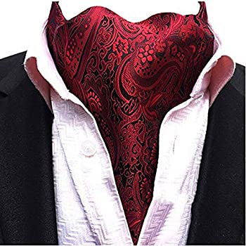 Scute Men s Cravat Jacquard Woven Silk Necktie Scarf Formal Ascot