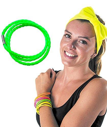 Party Pro armband gevlochten Eén maat Groen