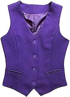 Women Waistcoat Formal Work Dress Suit Vest Sleeveless Cafe Bar Shop Waitress Waistcoat Gilet Jacket Coat Outwear