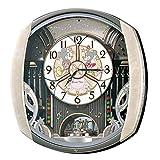 セイコー クロック 掛け時計 ミッキーマウス ミニーマウス 電波 アナログ からくり 6曲 メロディ 回転飾り ミッキー&フレンズ Disney Time ディズニータイム 薄ピンク マーブル 模様 FW563A SEIKO