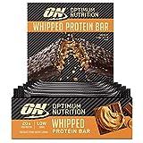 OPTIMUM NUTRITION Whipped Bar, Barritas Proteínas con Cobertura de Chocolate con Leche, Bajo en Azúcar, Mantequilla de Cacahuetes con Chocolate, 10 Barras (10 x 62 g)
