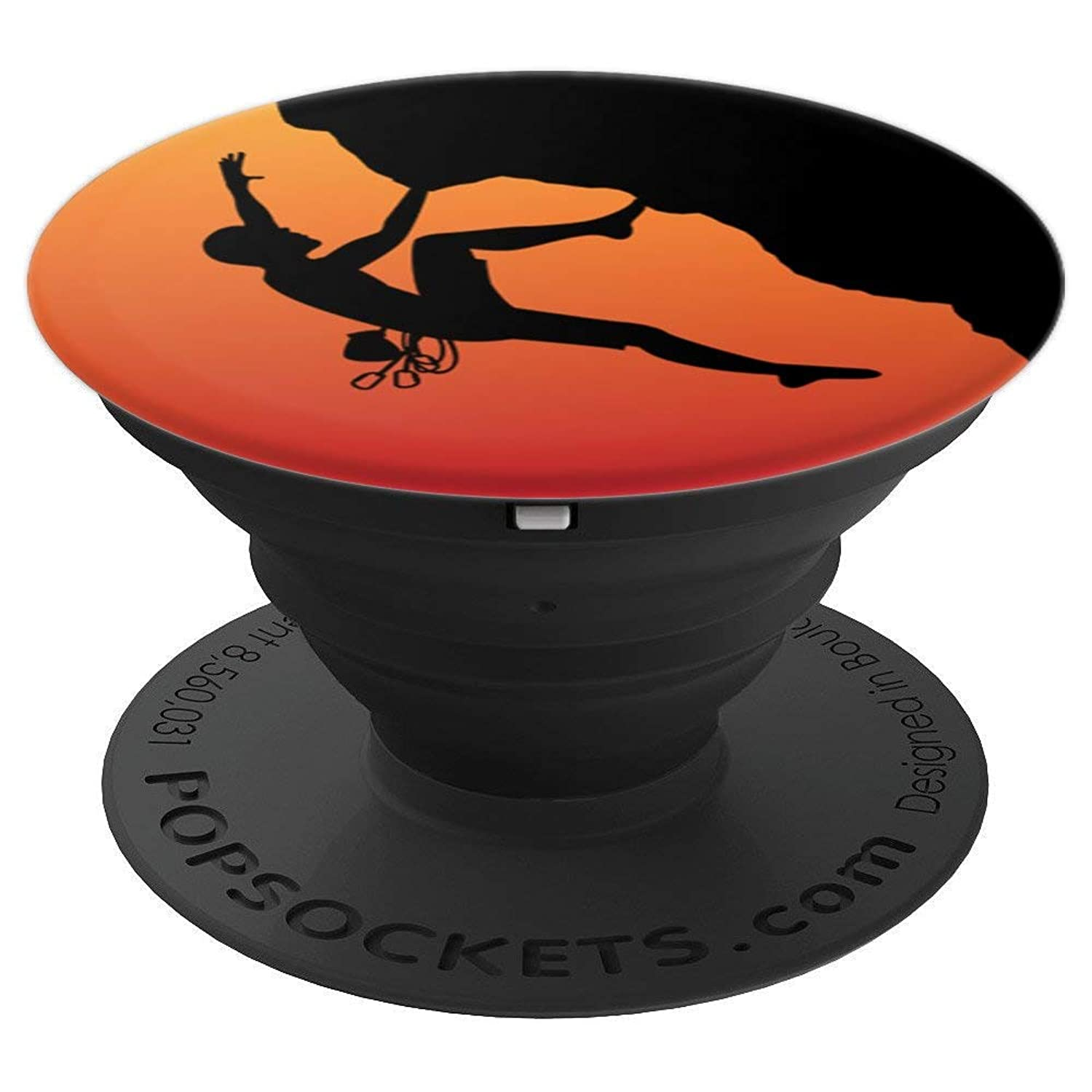 Rock Climb Climbing Free Boulder Men Boy Climber - PopSockets Grip and Stand for Phones and Tablets