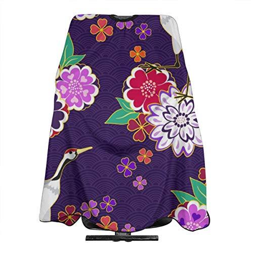 Decoratieve Kimono Patroon Vector Afbeelding Professionele Haar Snijden Salon Nylon Cape Barber Cape Waterdicht Met Snap Sluiting 55