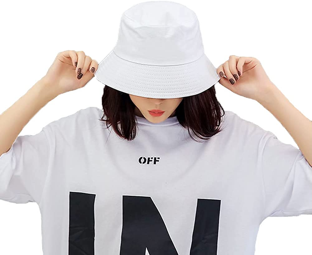Sun Bucket Hat for Womens Mens Ou Cotton Summer Wide Brim Overseas parallel Charlotte Mall import regular item Casual
