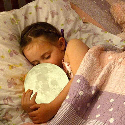 Imprimir Luz de Luna Luz de Noche Toque Control Remoto Luz de Color para decoración de Dormitorio Regalo de cumpleaños Directo