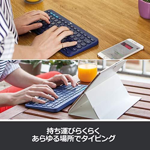 ロジクールワイヤレスキーボード無線キーボード薄型小型K380BKBluetoothK380ワイヤレスマルチOS:WindowsMaciOSAndroidChrome