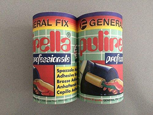 CHEMITAL Ricambi spazzole adesive PULIRELLA Professionale (Set 2 Rotoli)