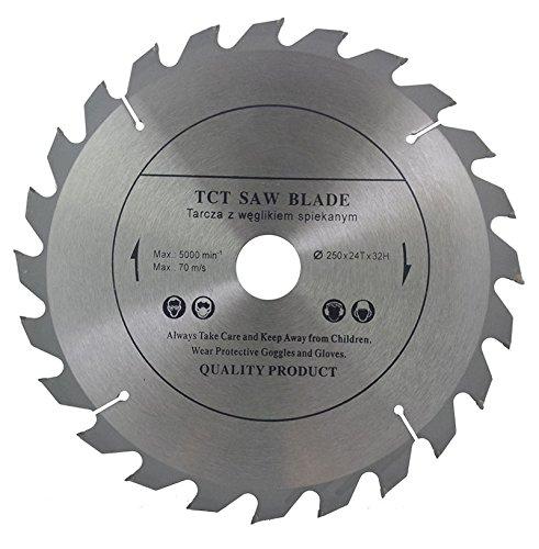 Parte superior calidad sierra de hoja de sierra circular 250 mm x 32 mm diámetro (mm) y 28 mm, 25,4 mm, con anillos reductores) para discos de corte de madera circular 250 mm x 32 mm x 24 dien