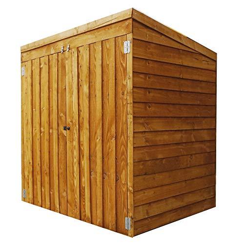 WALTONS EST. 1878 Wooden Mower Store 5x3 Outdoor Garden Storage Building, Pent Roof (5ft x 3ft / 5ftx3ft)