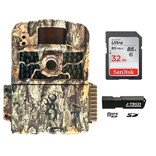 Browning Strike Force HD MAX (2020) Trail Game Camera Bundle Includes 32GB Memory Card and J-TECH Card Reader (18MP) | BTC5HDMAX