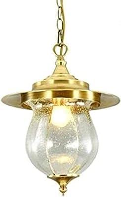 Gabbia americana in metallo anticato, per esterni, impermeabile, IP65, pergola da giardino in ottone spazzolato, lampada a sospensione in vetro, lanterna pergola porch lampadario lampadario E27
