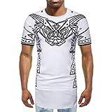 XDJSD Camiseta Camiseta De Manga Corta para Hombre Camiseta con Estampado De Calle para Hombre Camiseta De Verano con Cobertura Nueva Camiseta De Manga Corta De Longitud Media para Hombre