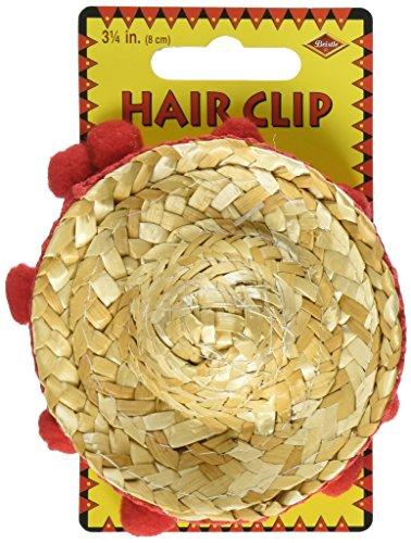 Sombrero Hair Clip Party Accessory (1 count) (1/Pkg)