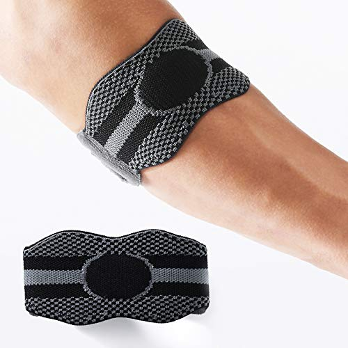 Tennis Elbow Brace Elbow Strap 1 Pack for Men Women, with Compression Pad Pain Relief for Tennis & Golfer's Elbow, Tendonitis, Weight Lifting