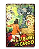Circus Vintage Historical Movie Vaudeville Show Poster Sign,Vintage Metal Tin Sign Wall Decoration,Coffee Sign Hanging Sign 8x12 Inches