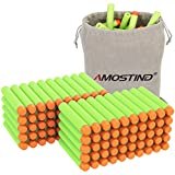AMOSTING Refill Darts 100PCS Bullet for Nerf N-Strike Elite Zombie Strike Rebelle - Green with Storage Bag