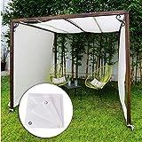 XISENOCI Tenda da Sole, Tenda da Sole traspirante Tenda da Gazebo Tenda da Sole 90% Blocco UV Tessuto parasole con occhielli in Metallo Recinzione per la Privacy Resistenza allo strappo Tenda da Este