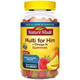 Nature Made Men's Multivitamin + Omega-3 Gummies, 150 Count for Daily Nutritional Support