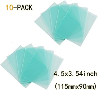 10-PACK Welding Protective Lens Replacement 4.5 X 3.54 inch (115 mm x 90 mm) Transparent Cover Lens Cover