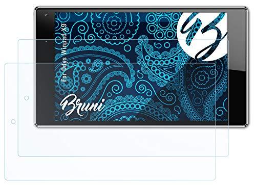 Bruni Schutzfolie kompatibel mit Odys Winpad X9 Folie, glasklare Bildschirmschutzfolie (2X)