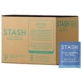 Stash Tea Double Bergamot Earl Grey Black Tea Box of 100 Tea Bags