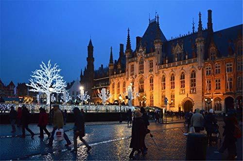 Puzzle Adulto De 1500 Piezas Brujas, Bélgica Jigsaw Puzzle, para Niños Juego Creativo Rompecabezas Navidad Decoración del Hogar Regalo