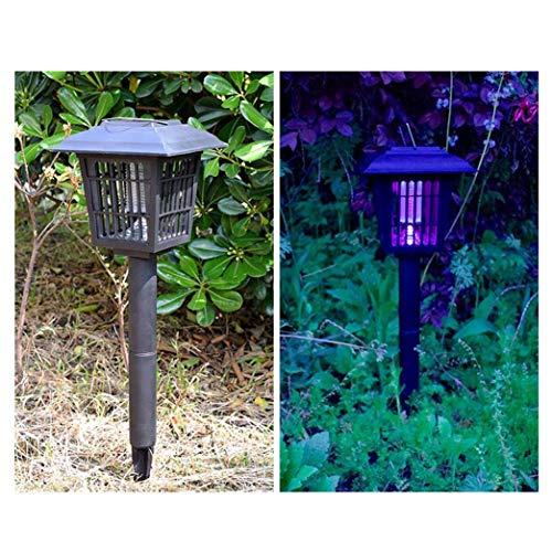 DO-MF Tueur Solaire de Moustique LED extérieur Lampe Anti-Moustique Tueur de Moustique électronique lumière de pelouse imperméable