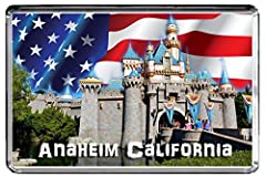 """E476 ANAHEIM CALIFORNIA FRIDGE MAGNET USA TRAVEL PHOTO REFRIGERATOR MAGNET SIZE OF EACH REFRIGERATOR MAGNET (3.5"""" x 2.5"""" inches) ACRYLIC PLASTIC REFRIGERATOR MAGNET"""