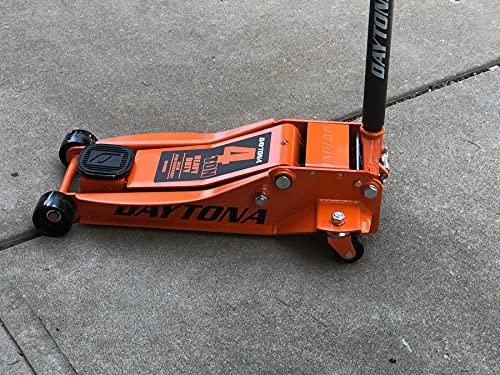 4 ton Steel Heavy Duty Floor Jack with Rapid Pump - Orange